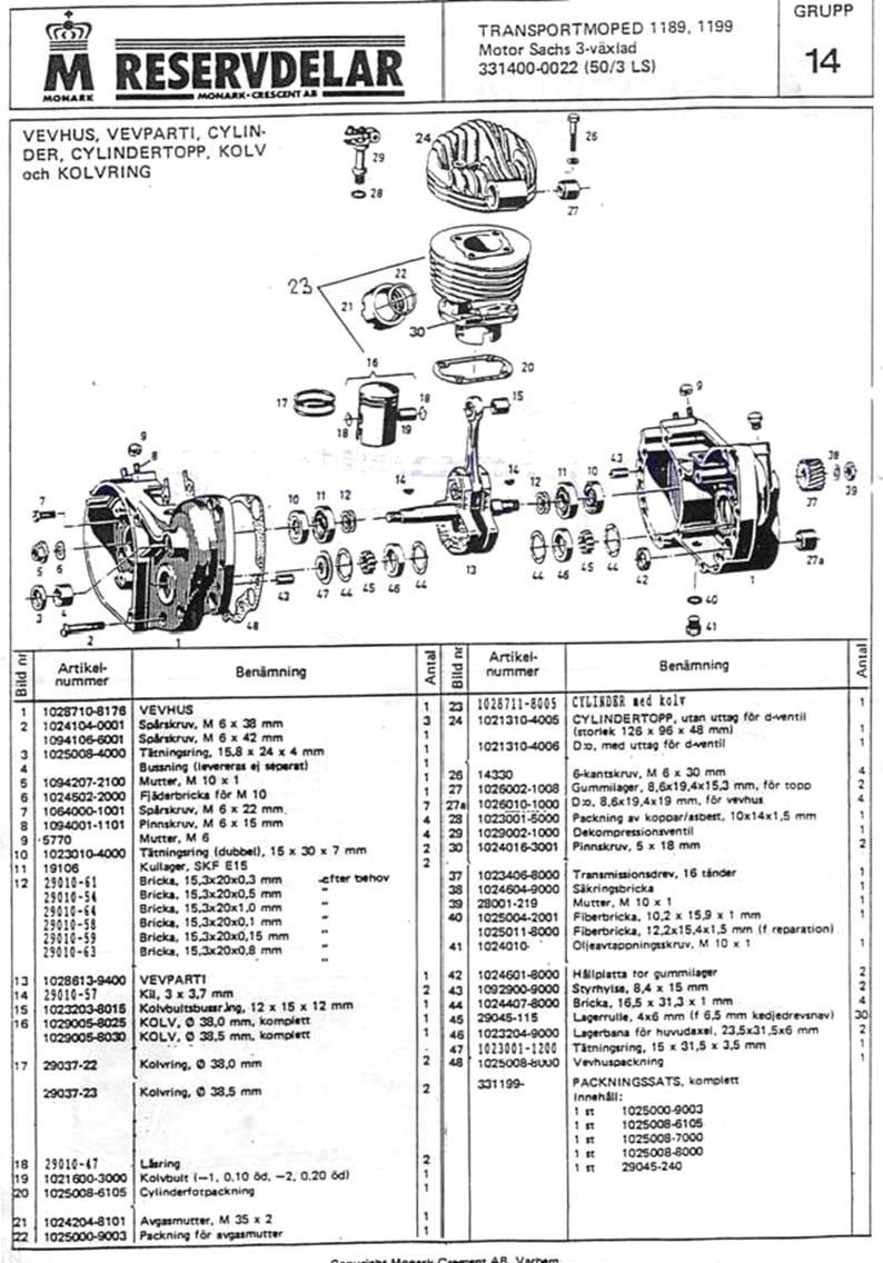 Reservdelar Sid-11