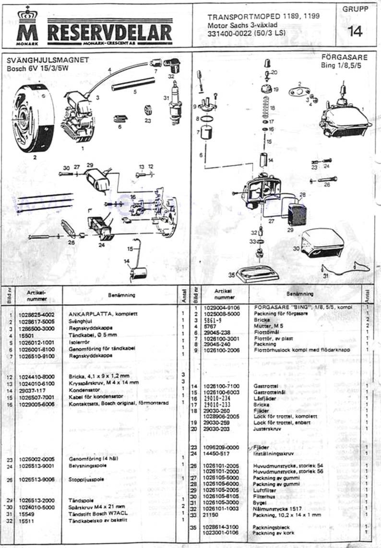 Reservdelar Sid-15