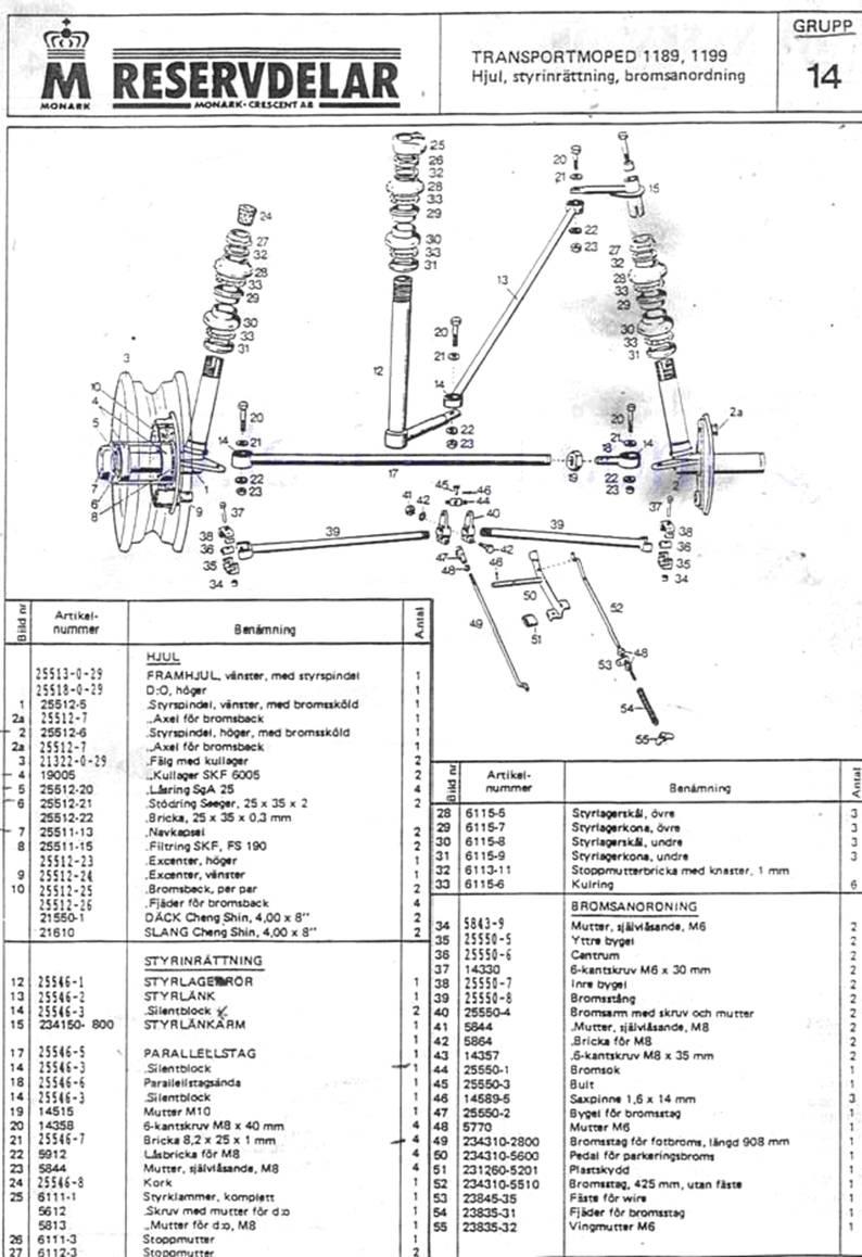 Reservdelar Sid-4