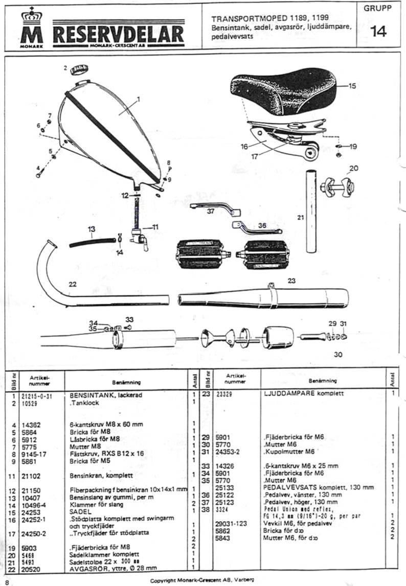 Reservdelar Sid-7